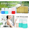 Promotional colorful silicone jar body butter jars sauce bottle
