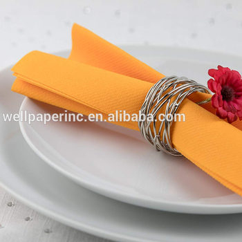 Solid orange Dinner Napkins Disposable, PLUM, Cloth Like Elegant, yet Heavy Duty Soft, Absorbent & Durable 16x16 ''