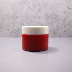 Ruby shinning 50ml glass red empty night moisurize face cream jar GJY-40T