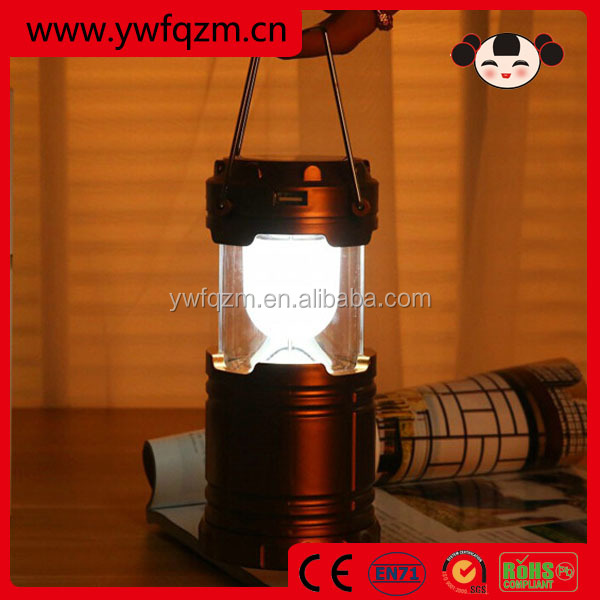 Foldable led solar rechargeable lantern camping lights