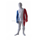 Unisex spandex zentai suit with France flag