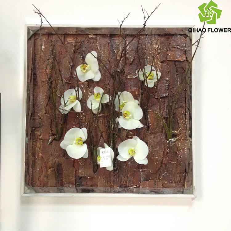 Artificial Hanging Flowers Arrangement Art Marking For Wall ...