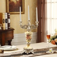 holidays wedding favors 41cm resin candle holder with 3 arms