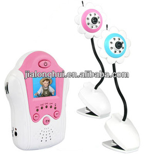 "2.4G wireless 1.5"" TFT LCD rechargable wireless baby monitor"