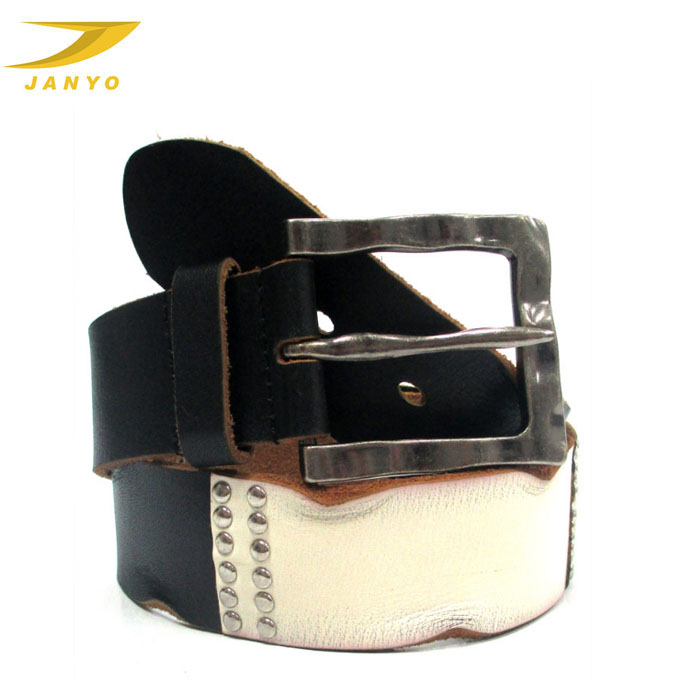 unique mens belts, middle white leather men waist sash belt