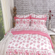 Pink roses printed so soft bedding sheet sets 100% cotton