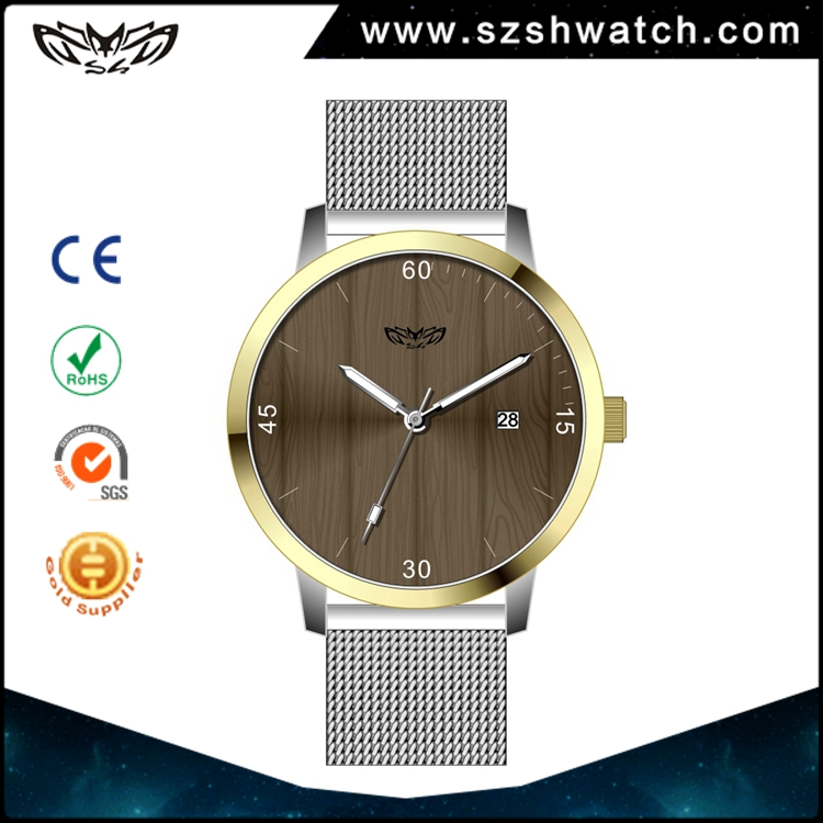5atm water resistant stainless steel case japan miyota 2035 movement wooden mens wrist gift quartz watches