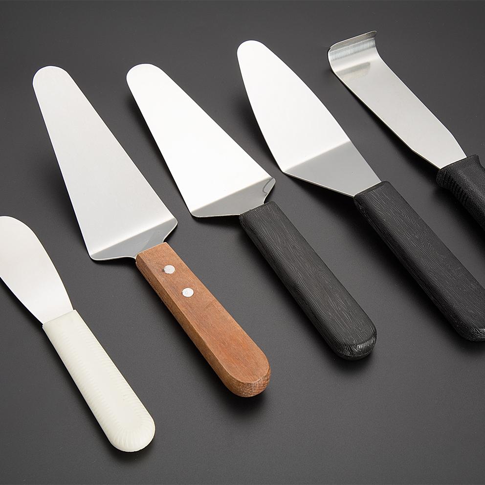 ホット販売高品質ベーキングツールエコフレンドリー非スティックシリコーンハンドルステンレス鋼チーズケーキカッターピザスライサーナイフ
