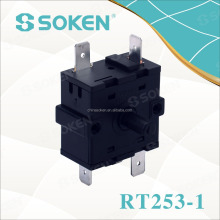 SOKEN gas water heater 6 position rotary switch 16a 250v t100 RT253-1