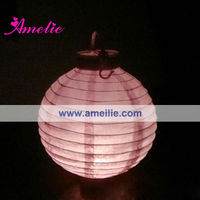 A21PL Handmade paper lantern with LED light