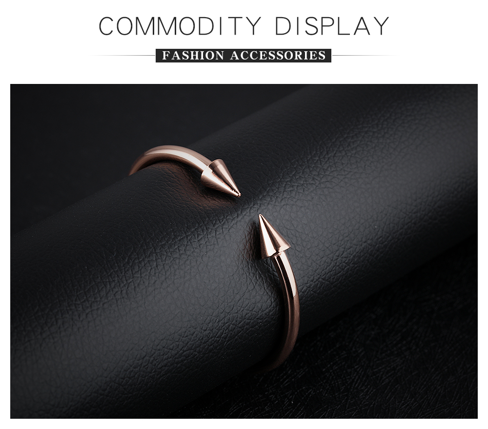 2018 Fashion Jewelry Stainless Steel Expandable Arrow Nail Bangle Bracelet For Women