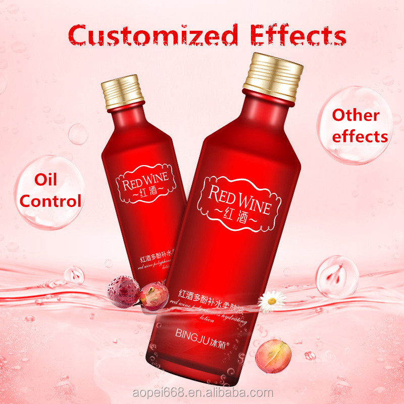 Red wine polyphenols facial serum moisturizing skin brightening serum face toner
