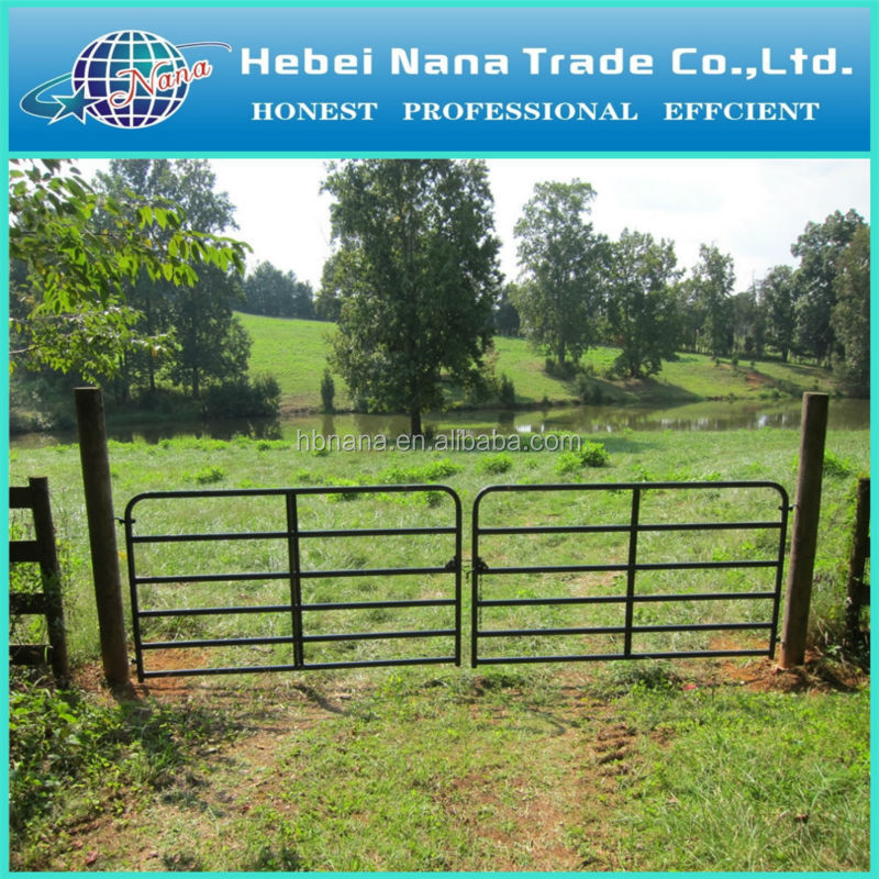 Hot dipped galvanized farm field gates / Aluminum farm cattle gates for sale
