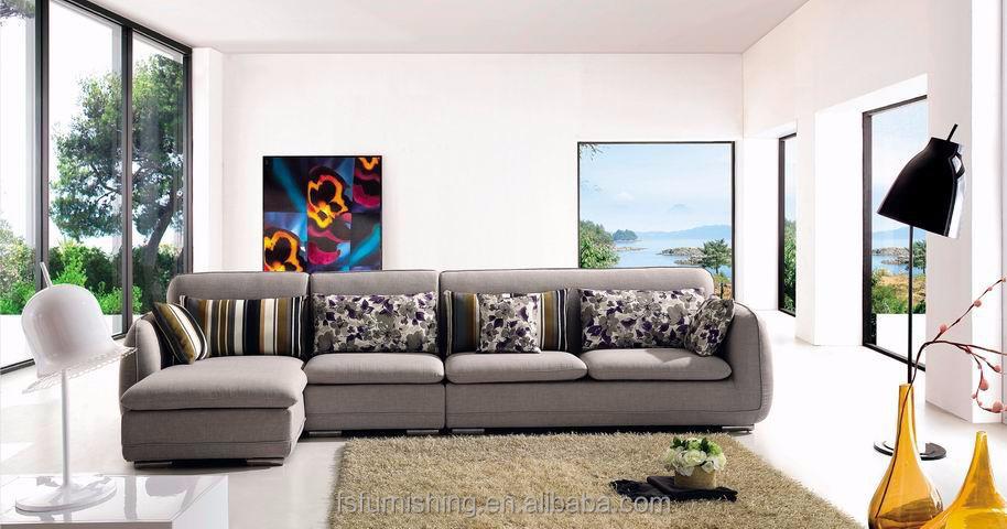 md617 moderne confortable noble bleu luxe velours tissu salon en coupe meubles de maison l forme - Salons Moderne En Velours