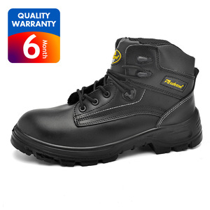 Fashion Safety Shoes for Men Steel Toe Boots Leather Safety Boots Water Proof