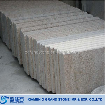 G682 Sunny Beige Granite Natural Stone Prefab Exterior Stair Treads