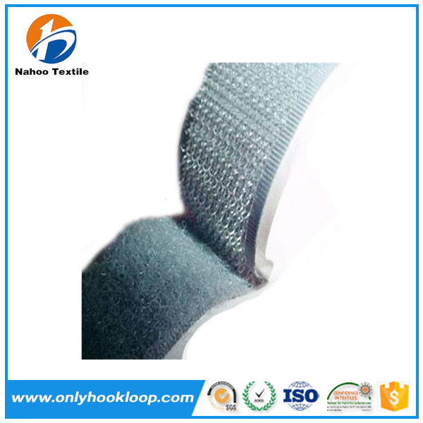 Strong sticky nylon adhesive hook loop tape, self adhesive hook and loop, sticky back hook and loop fasteners
