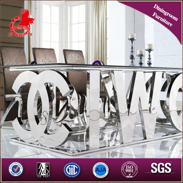 A8036 antique mirrored dining table