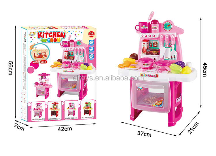 Wholesale Funny Kids Kitchen Set Toy Pretend Play Kitchen Toy For