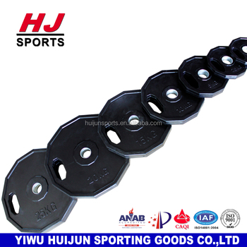 HJ--A505 Hot Koop Twaalfhoek Rubber Coated Bumper Gewicht Platen