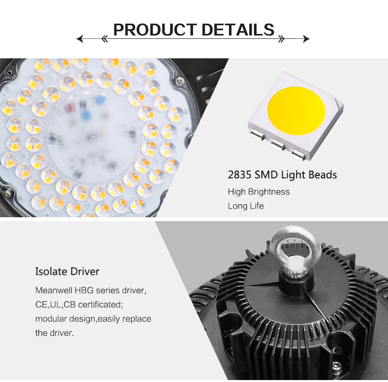 2018 Newest IP65 100W 150W 200W UFO LED High Bay Light