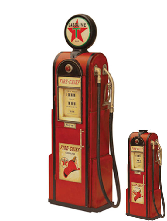 handmade gas pump storage model decor
