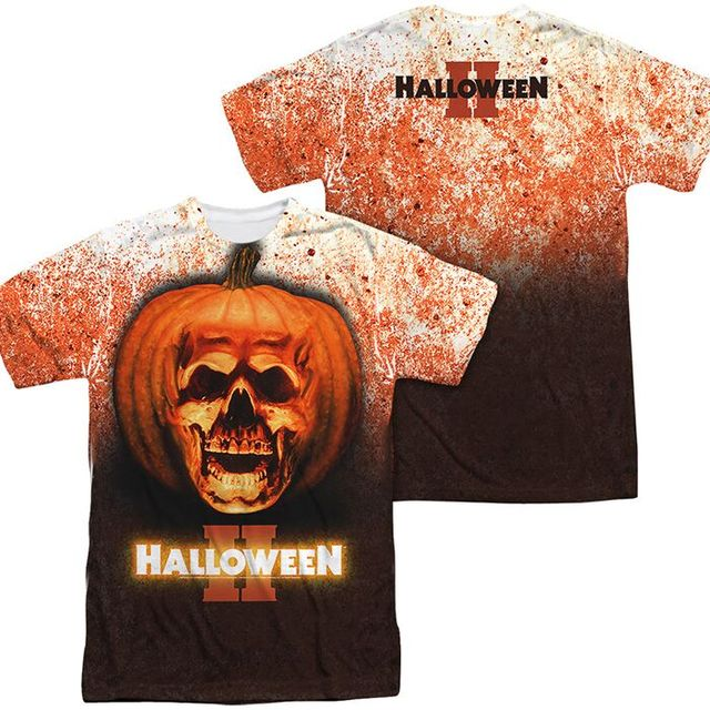3D Printing T-shirt Halloween Pumpkin Party Costume For Kids Adults, Sublimation T shirt Print Customized Logo