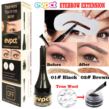 evpct eyebrow extension gel 4D true wool eyebrow gel eyebrow dye liquid waterproof sweatproof 2 colors