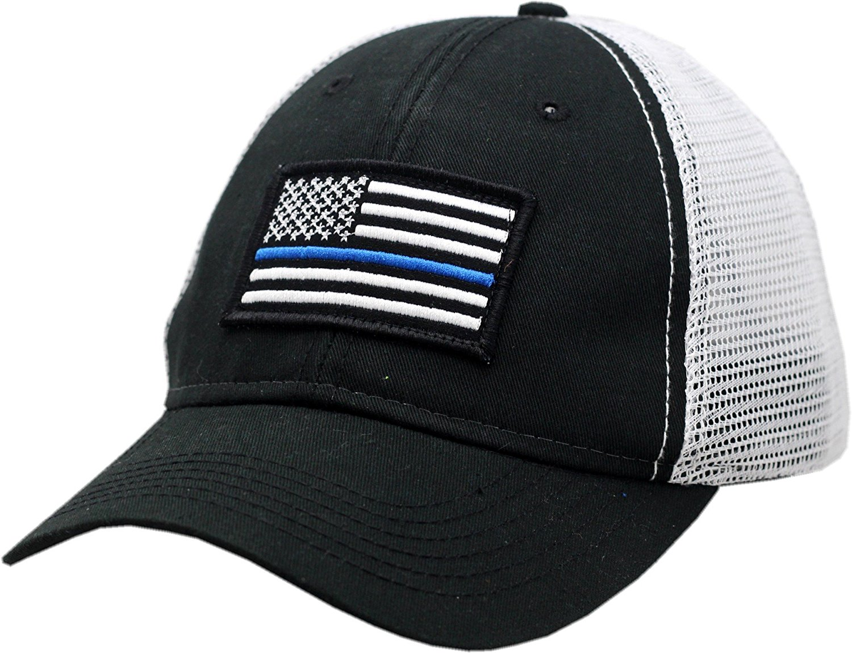 4526df75ccc Get Quotations · American Flag Blue Line 2-Tone Mesh Velcro Back Hat-10546