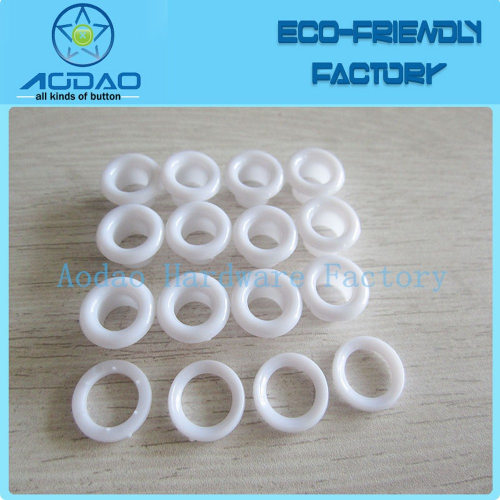 White Flat Plastic Eyelet For Garment Grommets