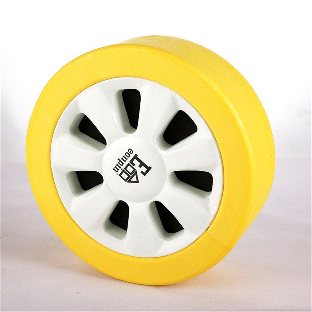 Child Decorative Throw Pillow 3D Effect Tyres Car Tire Simulation Sofa Throw Pillow Car Cushion Nap Pillow Seat Cushion (Yellow)
