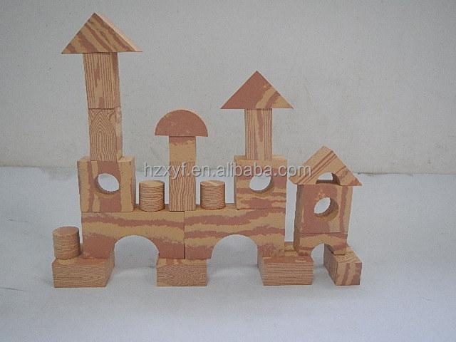 2014 new design eva children foam building blocks with for Foam block construction house plans