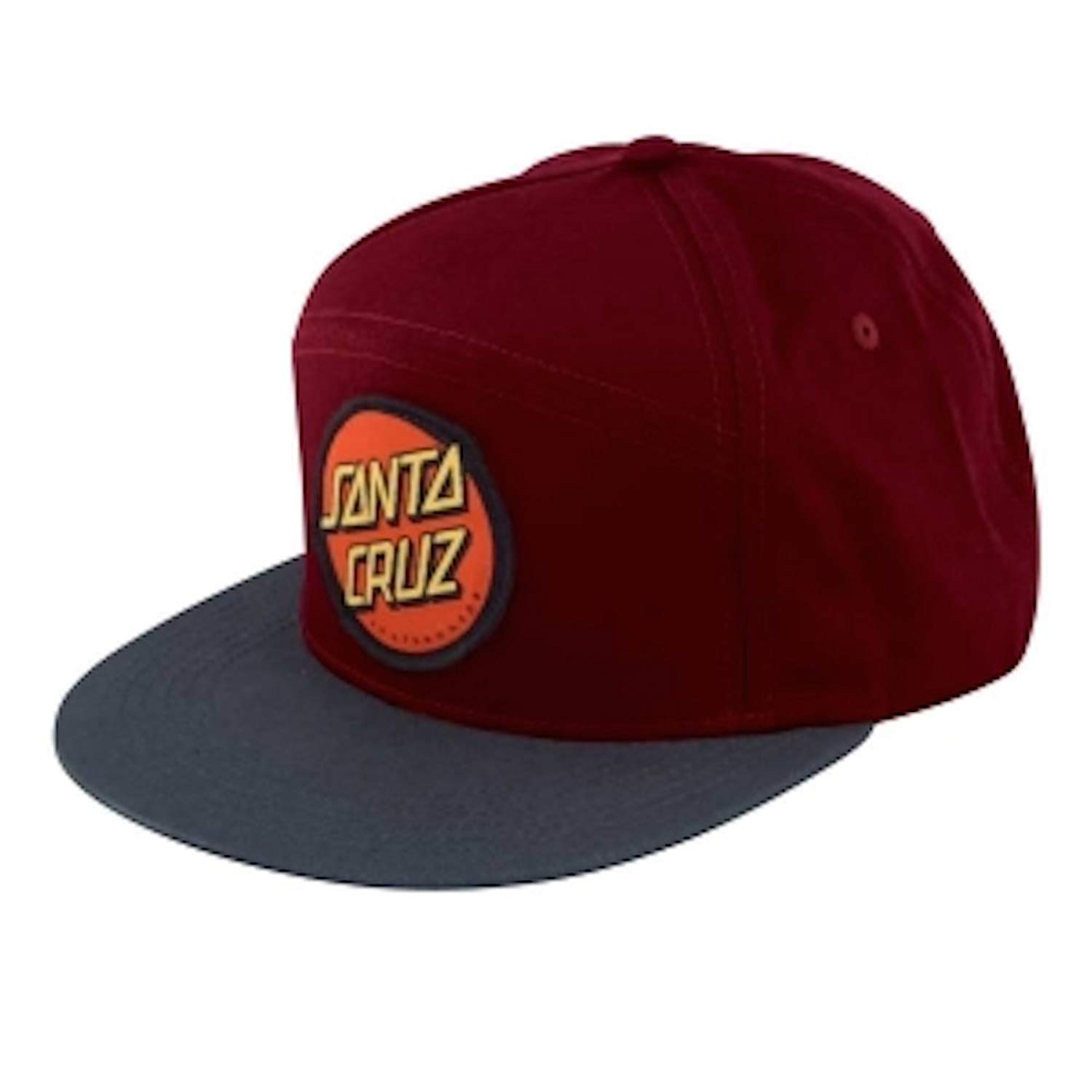 4779aaa8866cb Get Quotations · Santa Cruz Dot Snapback Hat - Maroon Charcoal