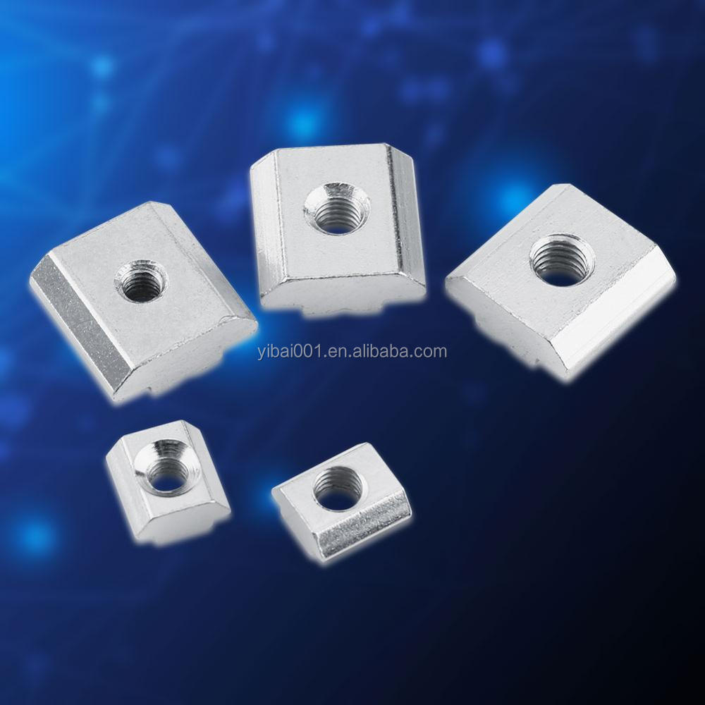 50 pieces T-slot Nut Slot block M4-M6 for European-Nut Aluprofile EU20 / 30