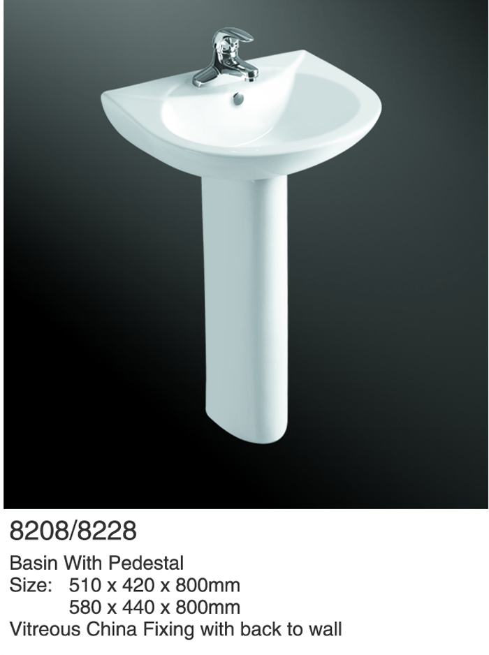 Sanitary Ware Bathroom Pedestal Basin Unique Pedestal