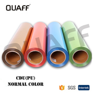 QUAFF Wholesale Korea Quality PU Heat Transfer Vinyl roll htv For t shirts