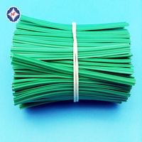 PVC plastic covered with single metal wire twist wire for gift or bags