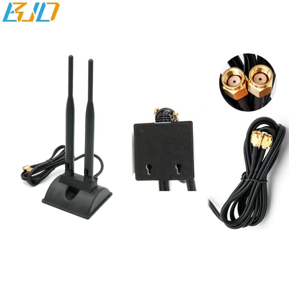 Dual Band <strong>WiFi</strong> 2.4Ghz 5GHz 6dBi Magnetic Base RP-SMA Antenna for <strong>WiFi</strong> Router