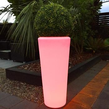 outdoor tuin decoratie led verlichte bloempot