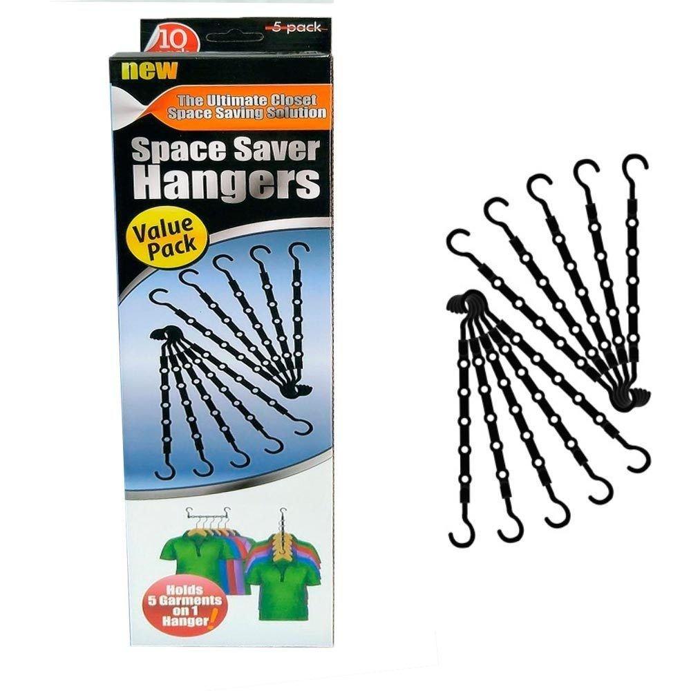 ... 10 Pc ^^ ^ Space Saver Hangers Closet Organizer Pants Rack Magic Hangers  5 In