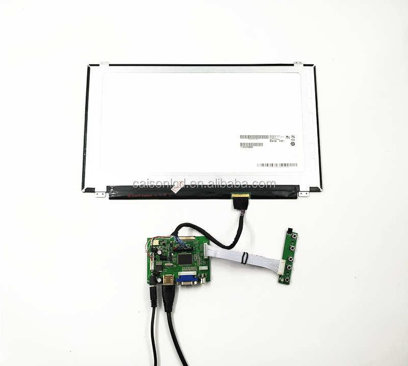 lcd controller board support HDMI+VGA +2AV driver 15.6 inch LCD kits with 1920*1080,300 cd