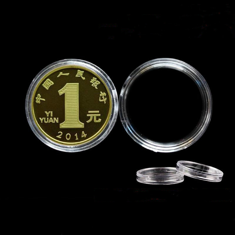 Cheap Round Packaging Coin Capsules Holder Clear Acrylic Coin Box
