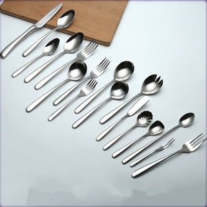 Bulk mirror polished stainless steel cutlery hotel restaurant flatware factory price wholesale