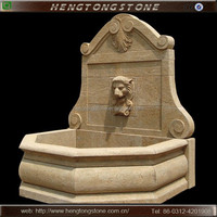 Decorative Marble Lion Head Wall Water Fountain
