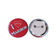 New Arrive Wholesale Price Customized Tin Cute Smile Face Blank Name Pinback Button Badge With Safe Pin For Promotion
