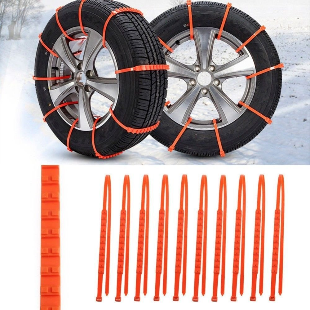 Get Quotations Traction Wires 10pcs Plastic Winter Tyres Wheels Snow Chains For Cars