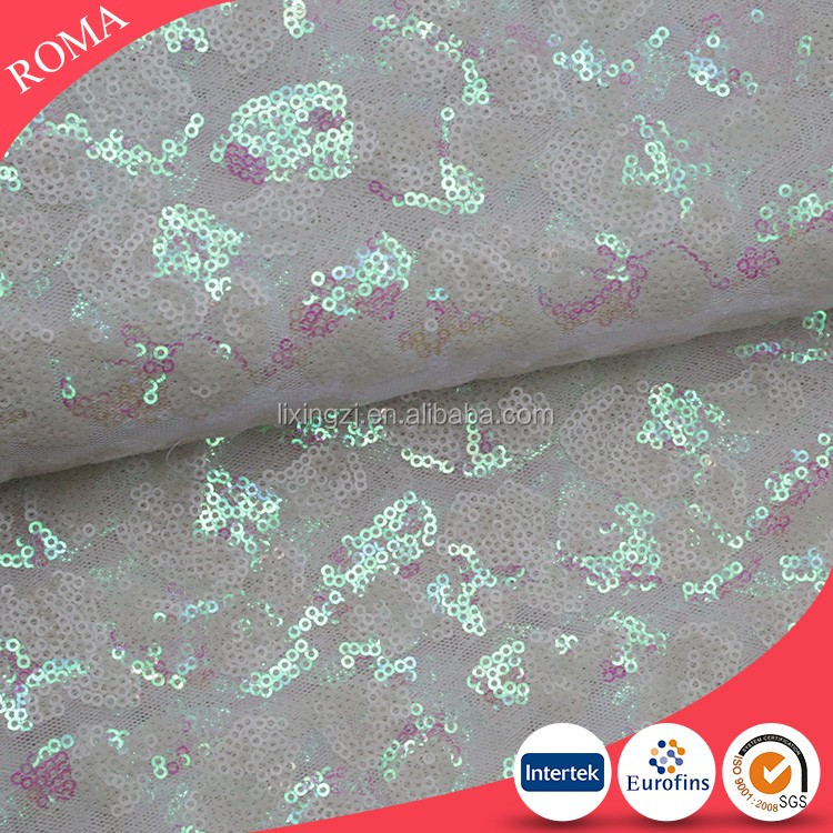 Bridal, evening dress sequin fabric, Indian lace fabric