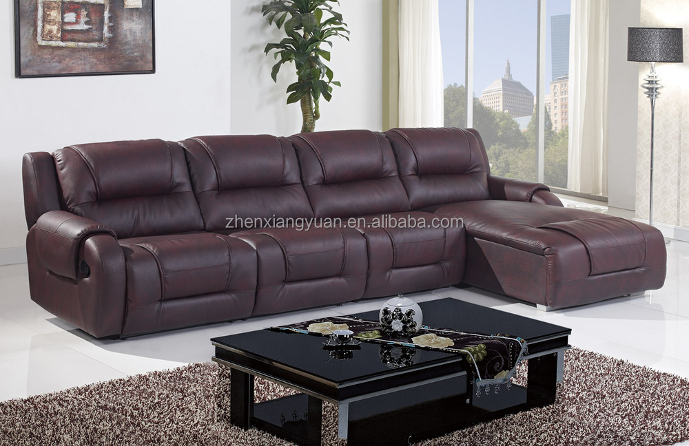 Living Room Furniture L Shape Leather Sofa Bed L Shape Sofa With Recliners L Shape Black Leather