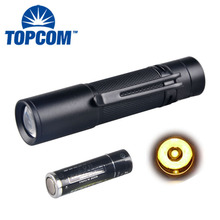 Pocket Clip 1W Yellow Light LED Torch Black Color Mini LED Torch Light Pen With Yellow Light