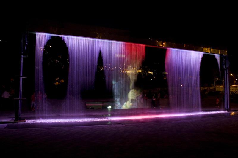 Digital Water Printer Curtain Colorful Music Water